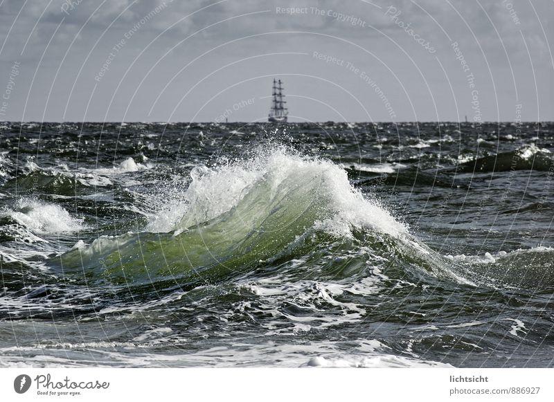 Goodbye, Fare You Well Himmel Natur Ferien & Urlaub & Reisen blau grün Wasser Meer Strand Ferne Küste Horizont Wetter Wellen Wind Insel Urelemente
