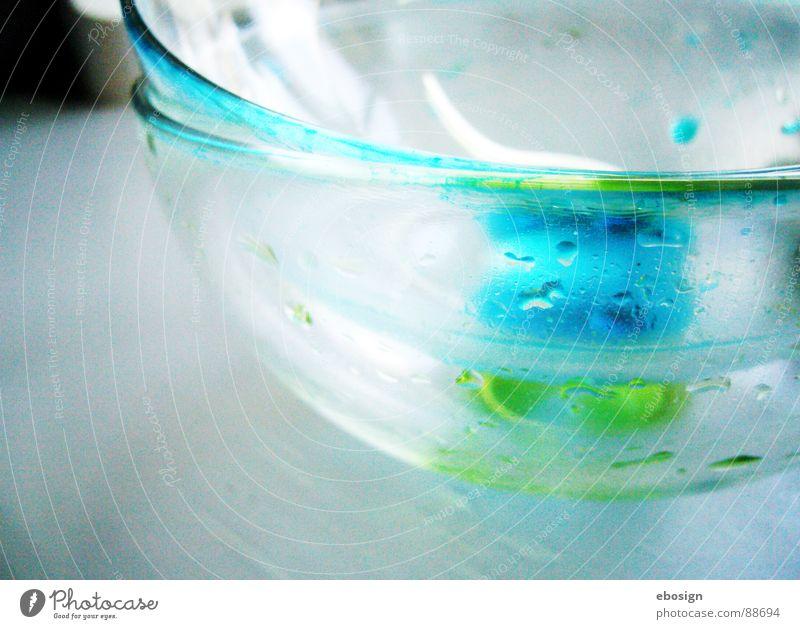 glasgrün blau Wasser Farbe Ernährung Kunst Glas Design frisch modern Wassertropfen Coolness Kochen & Garen & Backen Küche Klarheit Gastronomie