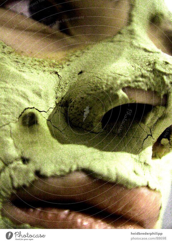 Sehnsucht nach Schönheit grün schön Gesicht Ferne Auge Nase Trauer Lippen Verzweiflung Selbstportrait Mund