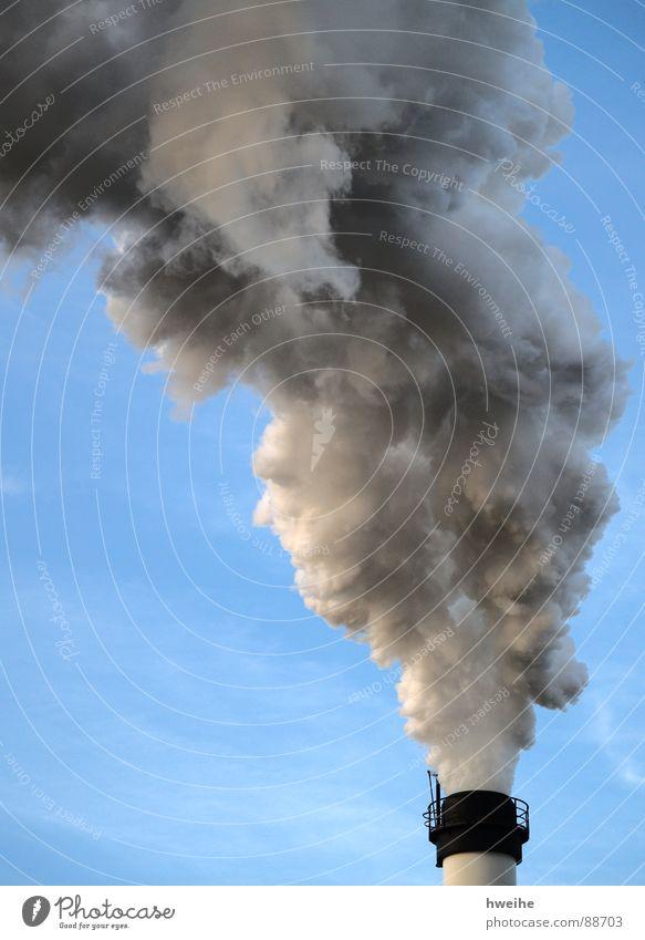 Smokey Himmel Stimmung dreckig Umwelt Industrie gefährlich Fabrik Gastronomie Rauch Abgas Geruch Gas Schornstein Umweltschutz Produktion Umweltverschmutzung