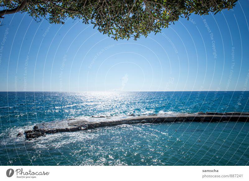 am Meer II Himmel Natur Ferien & Urlaub & Reisen blau Wasser Sommer Sonne Meer Erholung Landschaft Ferne kalt Umwelt Wärme Küste Schwimmen & Baden