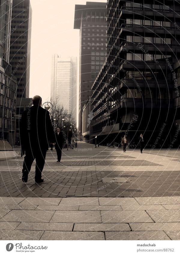 (M/K)EIN ARBEITSPLATZ Mensch Himmel Mann Stadt blau Wolken Haus Fenster Leben Architektur Gebäude Freiheit fliegen oben Arbeit & Erwerbstätigkeit Wohnung