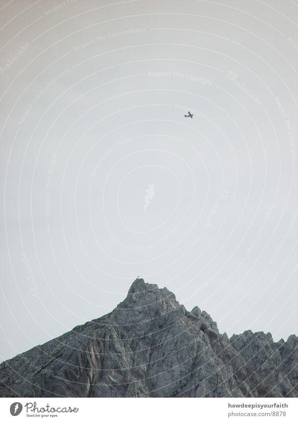 Flying High Flugzeug Gipfel Berge u. Gebirge Alpen Freiheit