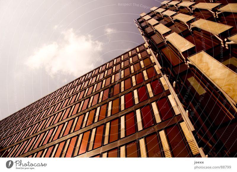 Frontpage anonym Fassade Fenster Firmengebäude Gebäude violett Muster Reichtum Sonne Reflexion & Spiegelung Stadt Wand Wolken modern Himmel