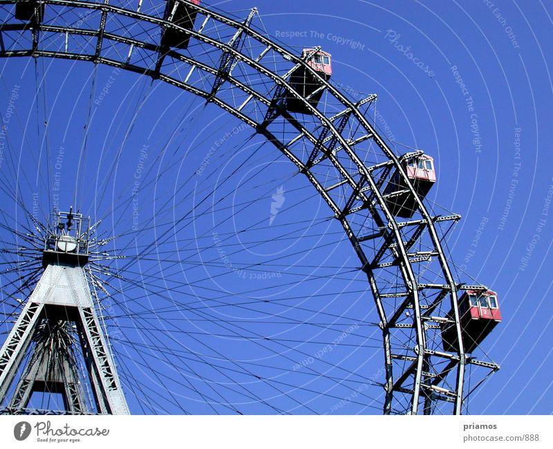 Riesenrad Bewegung Stahl Aussicht Wien
