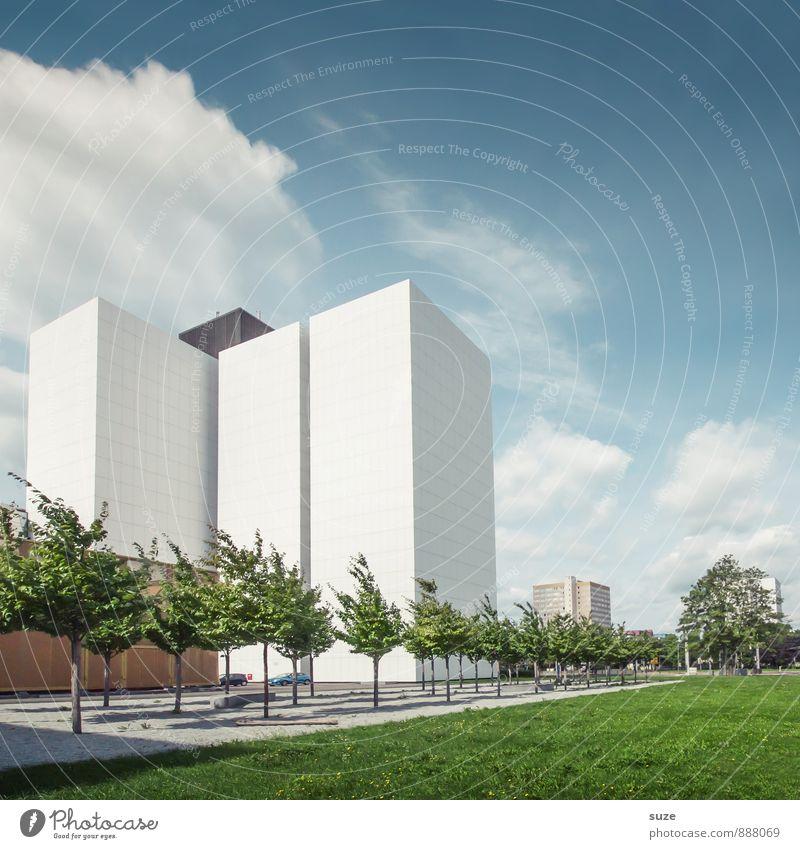 Archiv Himmel Natur Stadt Baum Umwelt Architektur Gebäude Arbeit & Erwerbstätigkeit Fassade Park Büro Design modern Hochhaus hoch ästhetisch