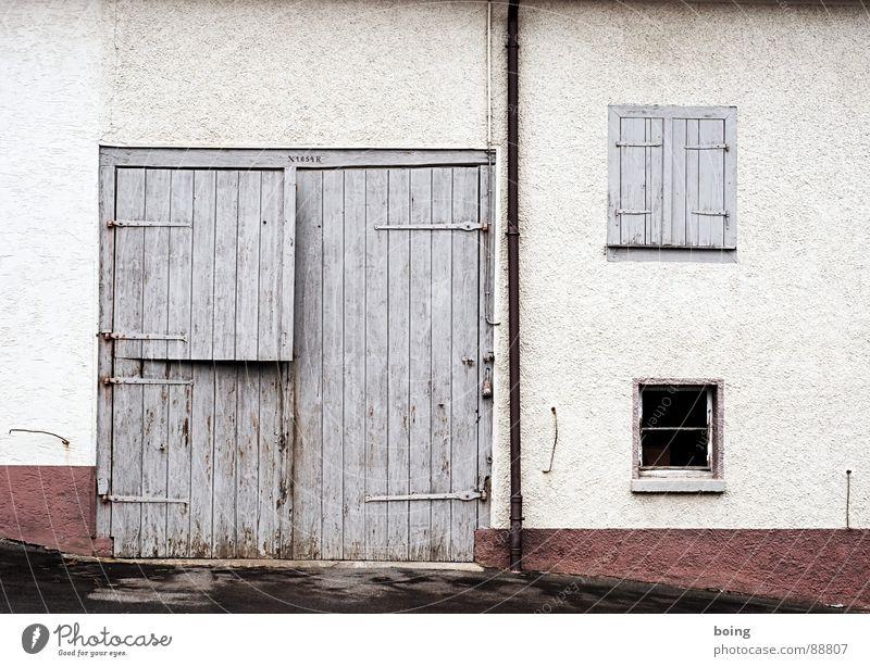 SUBURBANLOVE™ | 1854 Haus Leben Fenster Gebäude Architektur Tür geschlossen Treppe Häusliches Leben Bauernhof Dorf Tor Amerika Handwerk Eingang