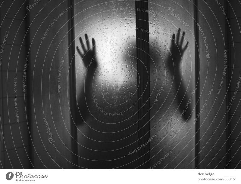 The Truth Is In There III Unschärfe gefährlich Hinterhalt Bad Außerirdischer außerirdisch bedrohlich Angst Fliesen u. Kacheln Dusche (Installation) Silhouette