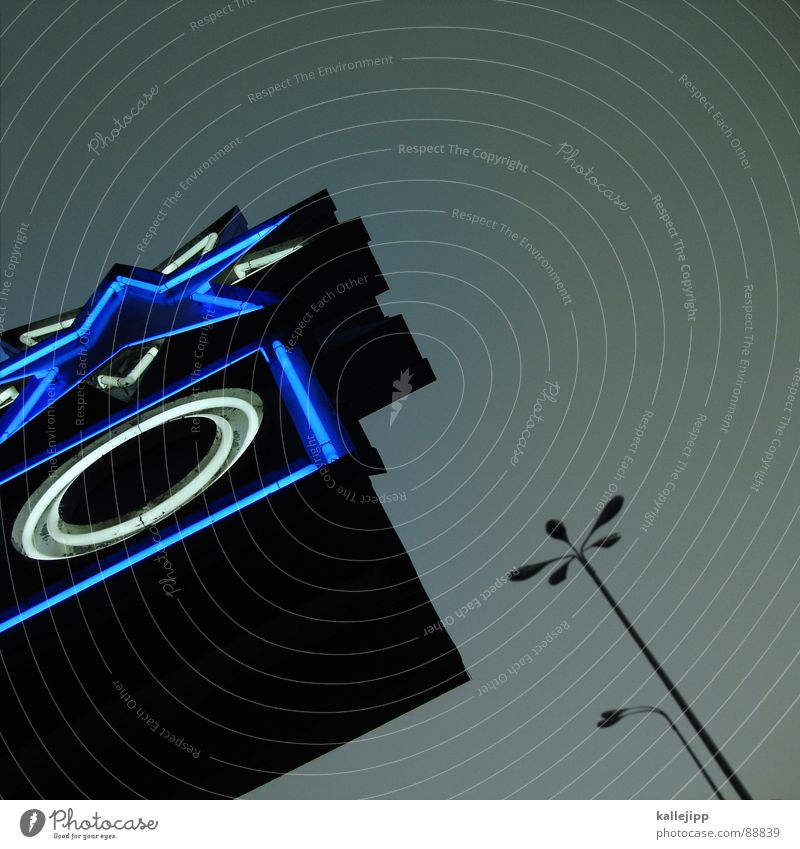 sternzeit Stadt Architektur Lampe Stern (Symbol) Zukunft Werbung Laterne Kino Starruhm Straßenbeleuchtung Held UFO Reaktionen u. Effekte Los Angeles dreidimensional Hollywood