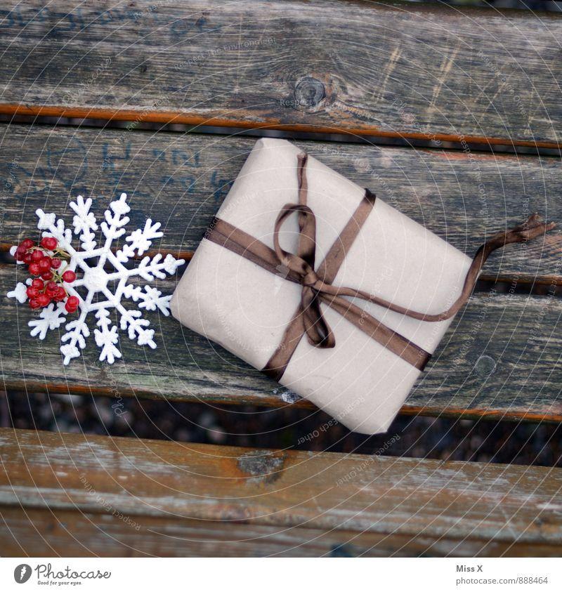 Für Dich Feste & Feiern Weihnachten & Advent Geburtstag Schnee Verpackung Paket Schleife Holz Güte Geschenk schenken Weihnachtsgeschenk Weihnachtsdekoration