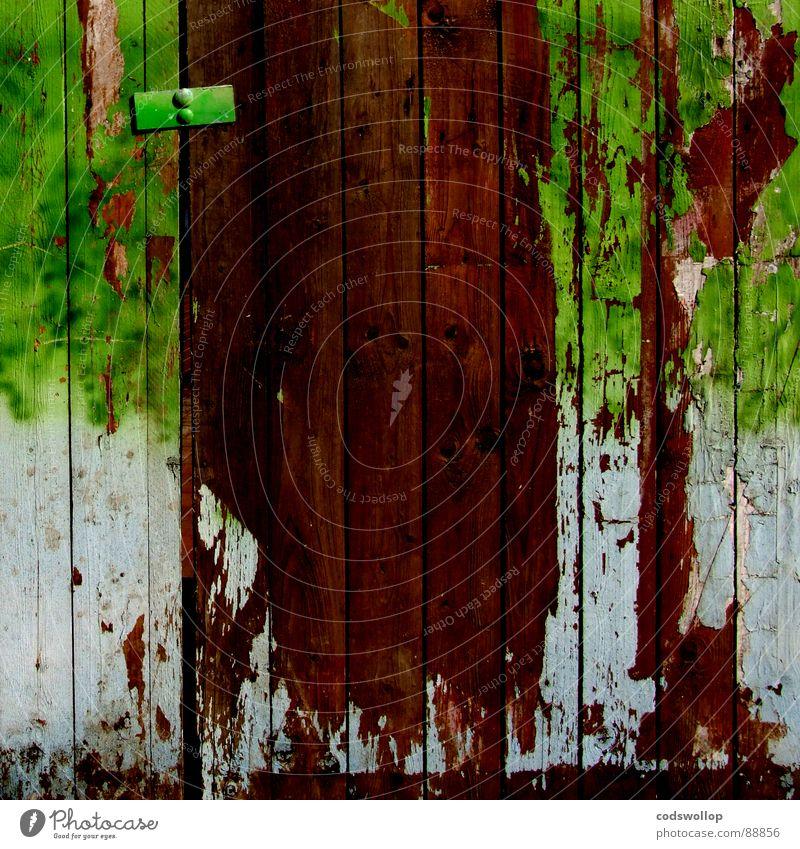 einzäunen Sicherheit Baustelle Vergänglichkeit Handwerk Zaun Demontage Holzwand Holzmehl