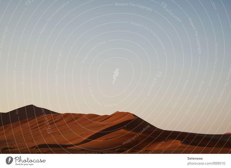 warme Luft Ferien & Urlaub & Reisen Tourismus Ausflug Ferne Freiheit Safari Sommer Sommerurlaub Sonne Himmel Wolkenloser Himmel Horizont Wärme Dürre Wüste
