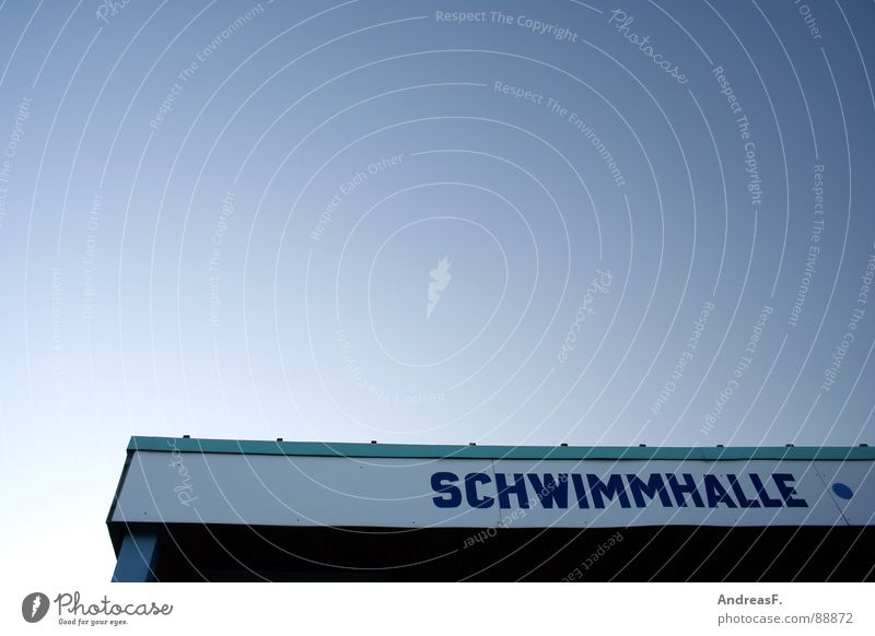 Schwimmhalle II Himmel Wasser Sport Spielen Bewegung Schwimmen & Baden Dach Schwimmbad verfallen tauchen Lagerhalle Wassersport Cottbus Bademeister