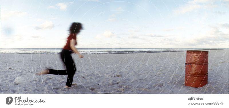 Schillig/ Nordsee Wasser Strand Luft Tanzen Kraft Küste groß Teile u. Stücke Panorama (Bildformat)