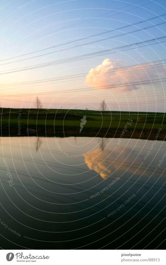 aufschnitt Natur Wasser Himmel Sonne Wolken Garten See Park Luft Linie Horizont geschlossen Energiewirtschaft Elektrizität Kabel Klarheit