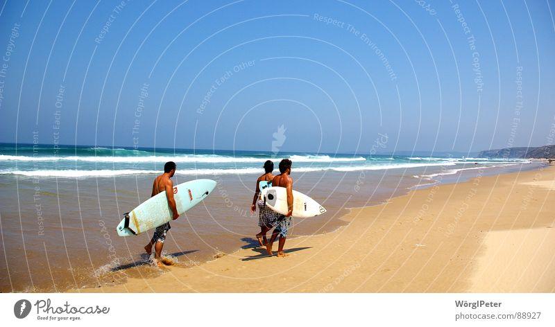 Surftraum Strand Surfen Wassersport Algarve Traumstrand