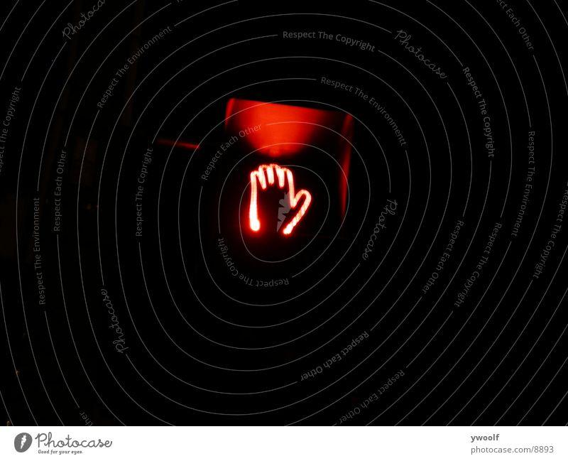 stoppen Sie Zeichen | Stop Sign Hand Neonlicht Dinge red glow