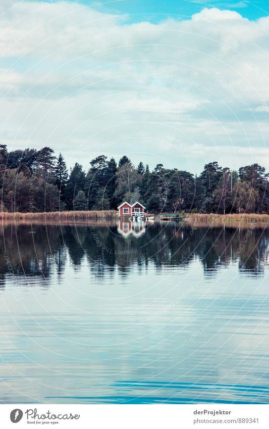 Ein Doppelhaus am See Natur Ferien & Urlaub & Reisen Sommer Meer rot Landschaft Freude Umwelt Gefühle Küste Glück Idylle Wellen Zufriedenheit Tourismus Ausflug