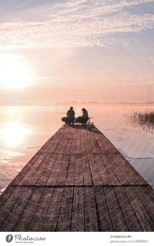 am Ruderhaus auf Rügen Ferien & Urlaub & Reisen Sommer Sonne Insel Umwelt Natur Landschaft Wasser Himmel Wolken Sonnenaufgang Sonnenuntergang Sonnenlicht Wetter
