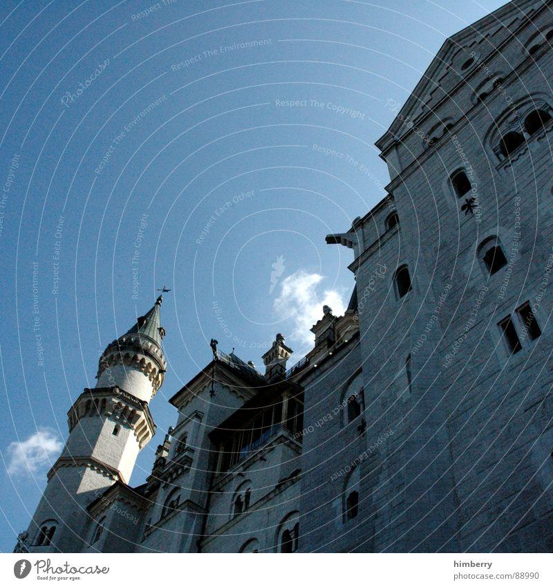 king@home.com Neuschwanstein Palast Rückzug historisch Wahrzeichen Denkmal Deutschland Burg oder Schloss castle prince palace Turm König mystery princess