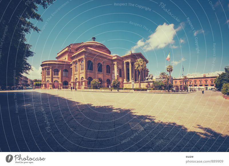 Teatro Massimo Ferien & Urlaub & Reisen alt Stadt Architektur Gebäude Stil Tourismus ästhetisch Platz retro einzigartig Kultur Italien historisch malerisch Bauwerk