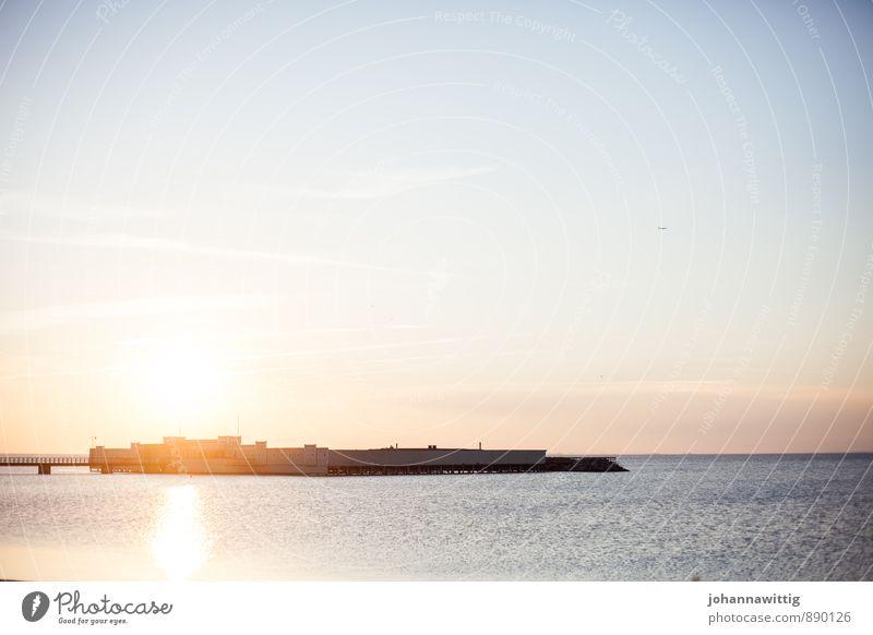 aus irgendwelchen gründen oder gerade deswegen Wasser Himmel Sonnenaufgang Sonnenuntergang Sommer Wetter Schönes Wetter Küste Meer Schwimmen & Baden ästhetisch