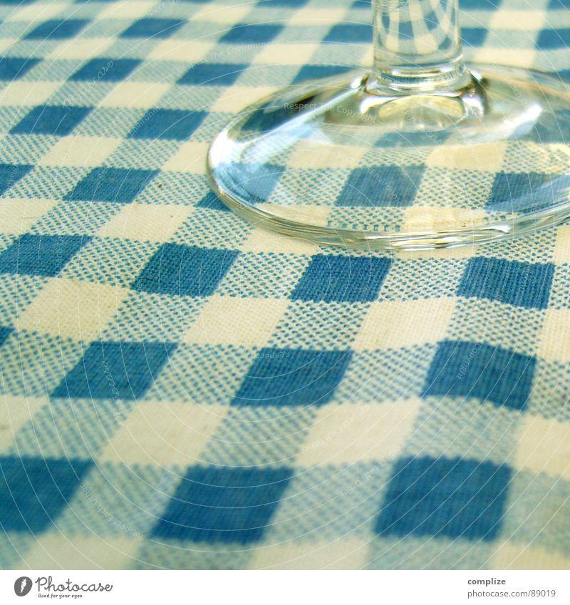 abendbrot° II alt weiß blau Ernährung Glas Lebensmittel Küche Gastronomie Jahrmarkt Alkohol Bayern Abendessen Mahlzeit Tradition Oktoberfest kariert