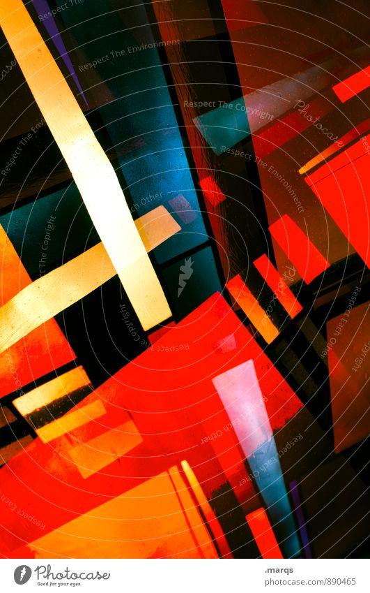 Deko elegant Stil Design Kunst Fenster Kirchenfenster Linie Streifen leuchten ästhetisch außergewöhnlich Coolness trendy einzigartig verrückt mehrfarbig Farbe
