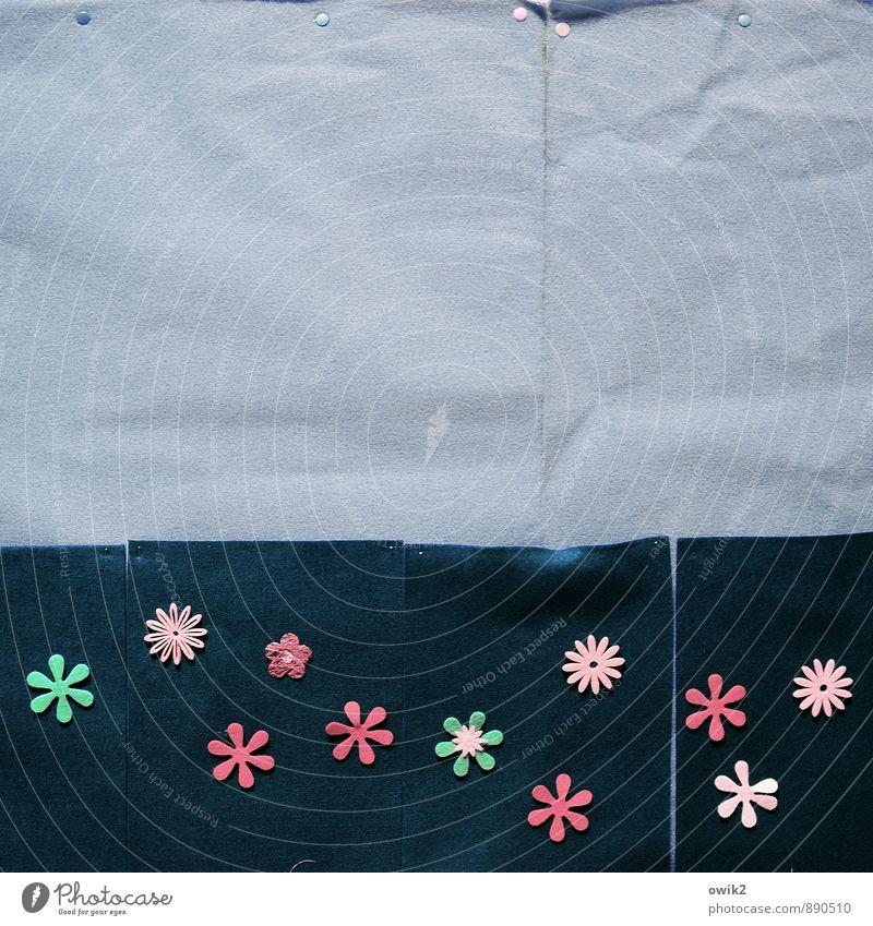 Blütenmeer Kunst Kunstwerk Blühend einfach exotisch Fröhlichkeit Zusammensein klein viele blau mehrfarbig grün rosa Zufriedenheit Lebensfreude Frühlingsgefühle