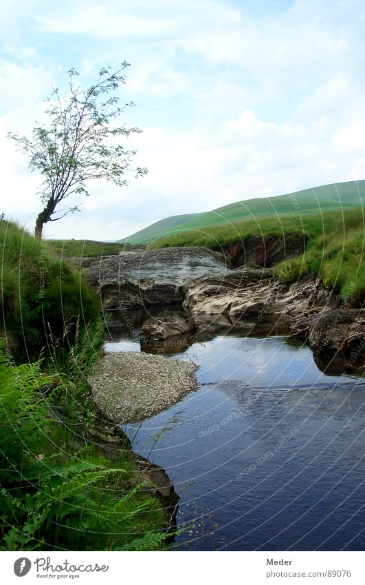 Kobolds Versteck Natur Wasser Himmel Baum grün blau Sommer Ferien & Urlaub & Reisen ruhig Wolken Erholung Wiese Gras Berge u. Gebirge Freiheit Stein