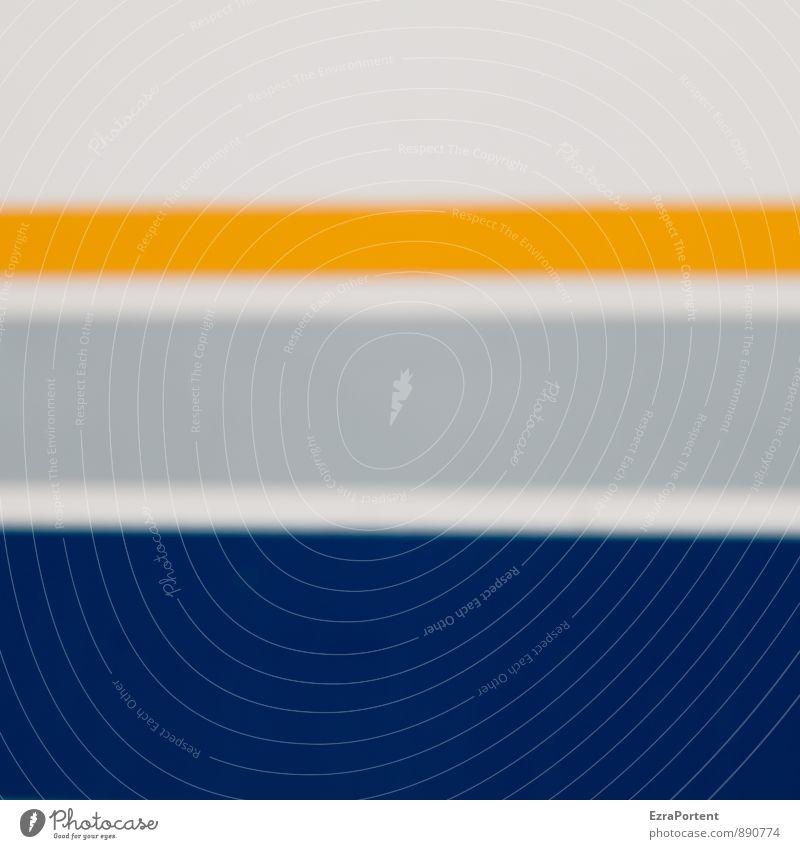 ... Wohnmobil Wohnwagen Kunststoff Linie Streifen blau gelb grau weiß Farbe Design graphisch Grafik u. Illustration Grafische Darstellung Farbfoto Außenaufnahme