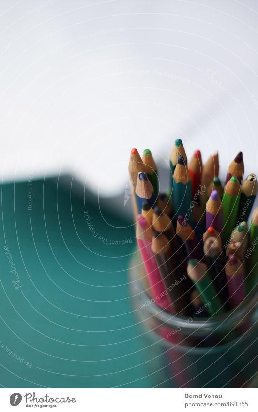 Möglichkeiten Schreibwaren Papier Schreibstift warten Farbstift holzfarbstifte Holz analog Kreativität zeichnen Kunst Arbeitsplatz Arbeit & Erwerbstätigkeit