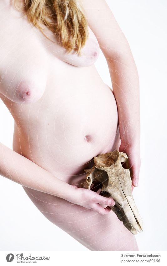 D. van der Nies 7213 Frau weiß Gesicht Auge Tier Leben feminin Tod nackt Haare & Frisuren hell blond Haut Akt Trauer weich