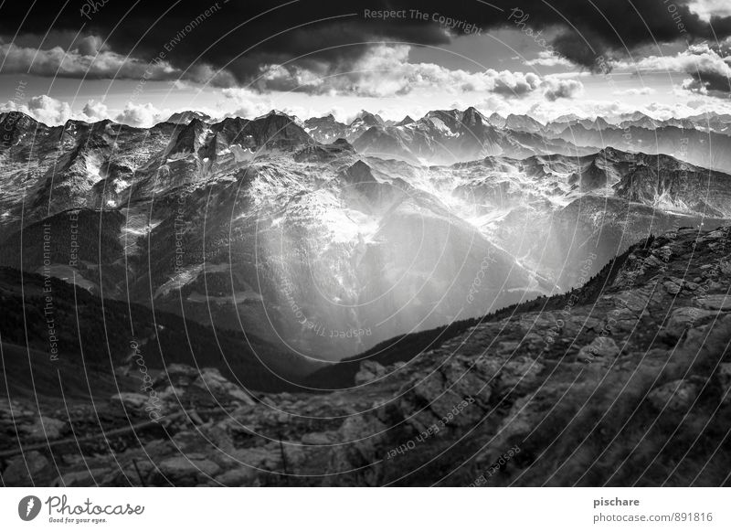 Chillertal Natur Landschaft Wolken dunkel Berge u. Gebirge bedrohlich Abenteuer Gipfel schlechtes Wetter Gewitterwolken Bundesland Tirol Zillertal
