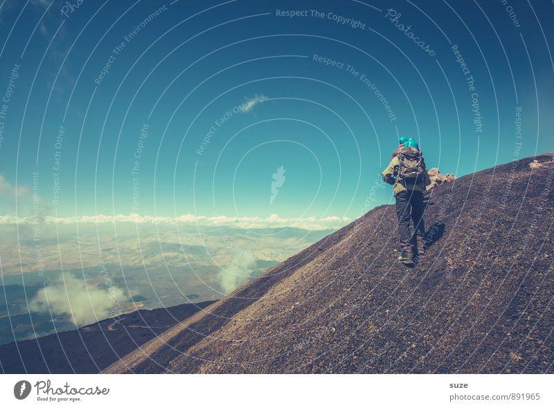 Das Ziel ist das Ziel Ferien & Urlaub & Reisen Tourismus Abenteuer Expedition Berge u. Gebirge wandern Team Mensch maskulin Junger Mann Jugendliche Erwachsene