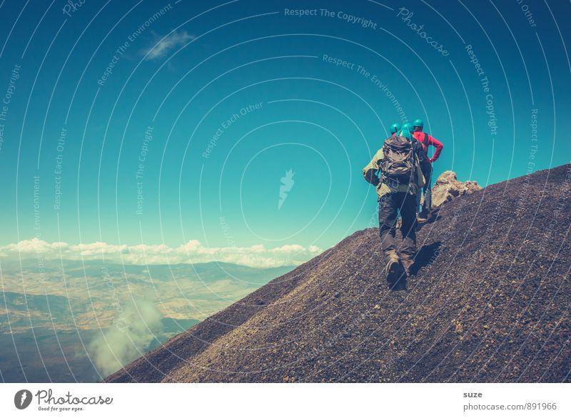 Aufstieg Ferien & Urlaub & Reisen Tourismus Abenteuer Expedition Berge u. Gebirge wandern Team Mensch maskulin Junger Mann Jugendliche Erwachsene Umwelt Natur