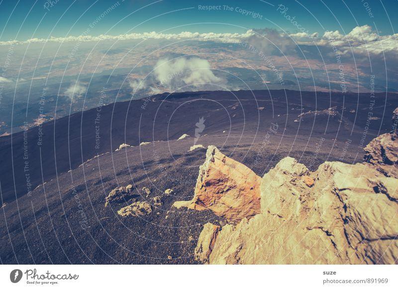 Übern Berg sein ... Ferien & Urlaub & Reisen Abenteuer Expedition Berge u. Gebirge wandern Umwelt Natur Urelemente Erde Himmel Wolken Horizont Felsen Gipfel