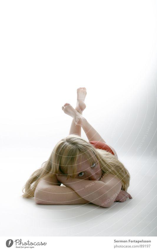 D. van der Nies 7152 Frau weiß Gesicht Auge nackt Haare & Frisuren hell Haut blond liegen Akt rothaarig