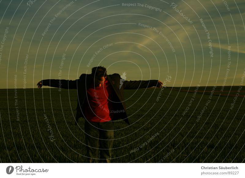 SCARECROW Mann Himmel Einsamkeit Wiese Feld gehen Horizont Vogelscheuche