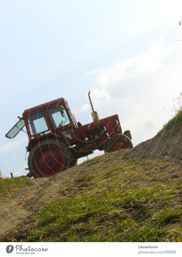 vom trecker überfahren Feld Traktor Landwirtschaft aufwärts Amerika Schieflage