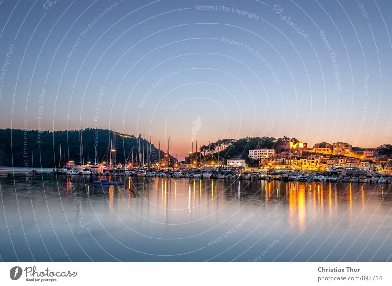 Abenstimmung im Hafen harmonisch Wohlgefühl Zufriedenheit Sinnesorgane Erholung ruhig Meditation Ferien & Urlaub & Reisen Tourismus Ausflug Ferne Freiheit