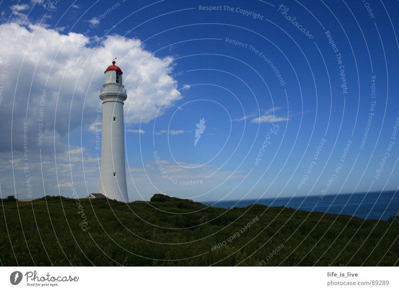 turm_de_leuchte Leuchtturm Australien Himmel Wahrzeichen Denkmal Lighthouse house_of_light einsamer Wächter Blauer Himmel Rettung in er Not