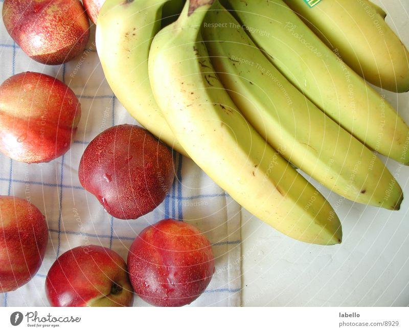 Obst Gesundheit Frucht feucht Decke Banane gewaschen Nektarine Küchenhandtücher
