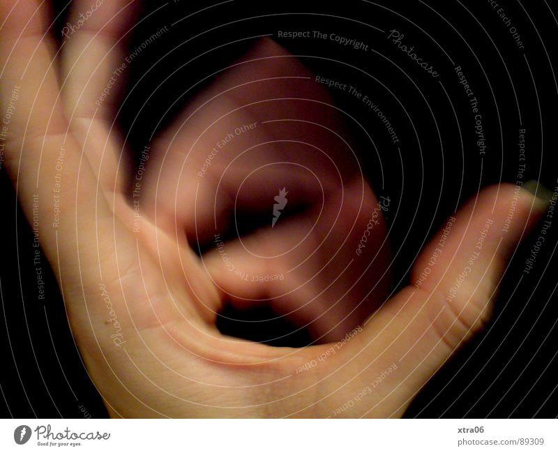 bewegte Hand 1 Mensch Hand schwarz Bewegung Haut Finger Geschwindigkeit Fingernagel Abwechselnd