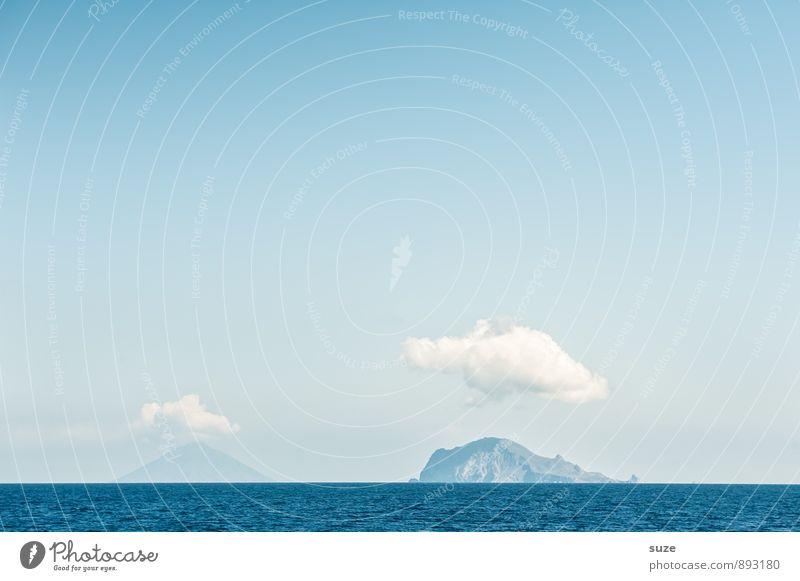 Wetter | Wolke 6 und 7 Himmel Natur Ferien & Urlaub & Reisen blau Sommer Meer Landschaft Wolken Ferne kalt Umwelt Berge u. Gebirge Reisefotografie lustig