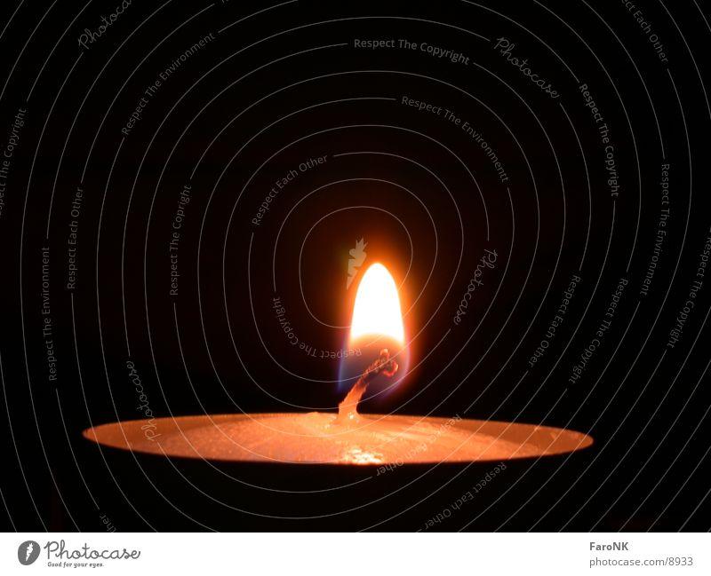Teelicht Kerze Flamme Fototechnik
