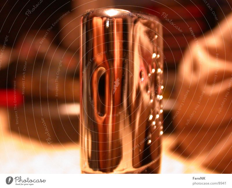 Chrom glänzend Licht Fototechnik