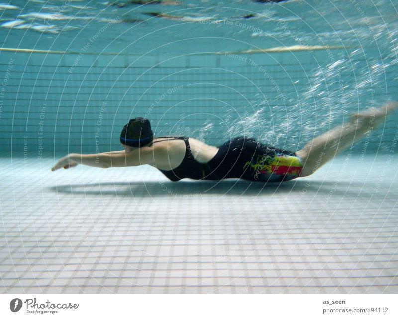 Gleitphase Schwimmen & Baden Sport Fitness Sport-Training Wassersport Sportveranstaltung Schwimmbad feminin Frau Erwachsene Körper 1 Mensch 13-18 Jahre Kind