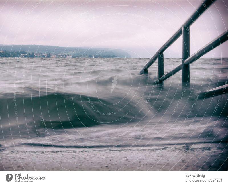 Es kommt die Flut Erholung Schwimmen & Baden Ferien & Urlaub & Reisen Tourismus Ausflug Ferne Sommer Sommerurlaub Strand Wellen wandern Natur Landschaft Wasser