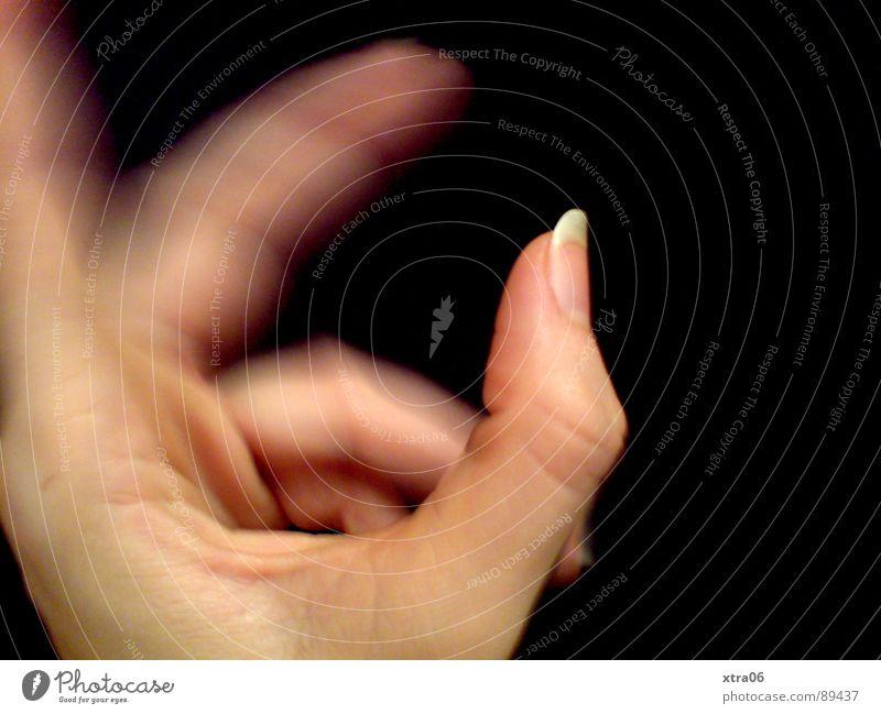 bewegte Hand 2 Mensch Hand Bewegung Haut Finger Geschwindigkeit Fingernagel